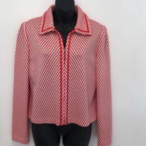 ST JOHN SPORT Knit Jacket Small Zip Front
